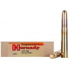 Hornady Dangerous Game .470 Nitro Express 500 Gr. DGS Round Nose Solid- Box of 20