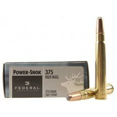 Federal Power-Shok .375 H&H Magnum 270 Gr. Soft Point 375A