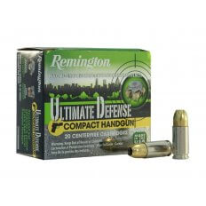 Remington Compact Handgun Defense 9mm Luger 124 Gr. Brass Jacketed Hollow Point- Box of 20