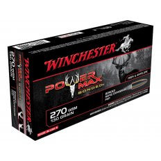 Winchester Power Max Bonded .270 Winchester Short Magnum (WSM) 130 Gr. Protected Hollow Point X270SBP