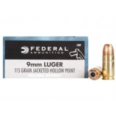 Federal Personal Defense 9mm 115 Gr. JHP- Box of 20