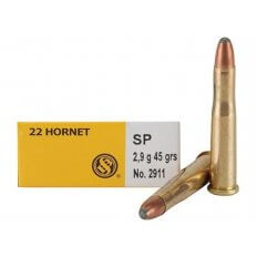 Sellier & Bellot .22 Hornet 45 Gr. Jacketed Soft Point- Box of 20