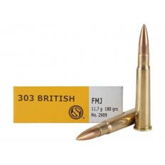 Sellier & Bellot .303 British 180 Gr. Full Metal Jacket- Box of 20