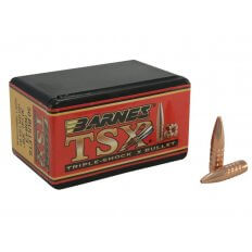 Barnes Bullets .30 Caliber (.308 Diameter) 165 Gr. TSX Hollow Point Boat Tail- Lead-Free- Box of 50