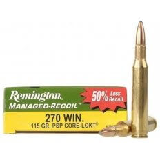 Remington Managed-Recoil .270 Winchester 115 Gr. Core-Lokt Pointed Soft Point- Box of 20