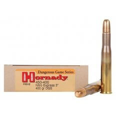 "Hornady Dangerous Game .450-400 Nitro Express 3"" (.410 Diameter) 400 Gr. DGS Round Nose Solid- Box of 20"