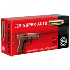Geco .38 Super Auto 124 Gr. Full Metal Jacket- Box of 50