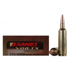 Barnes VOR-TX .270 WSM 140 Gr. TSX Bullet Boat Tail- Lead-Free- Box of 20