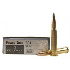 Federal Power-Shok .303 British 150 Gr. Soft Point- Box of 20