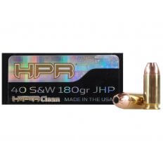 HPR HyperClean .40 S&W 180 Gr. Hornady XTP Jacketed Hollow Point- Box of 50