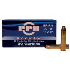 Prvi Partizan .30 Carbine 110 Gr. Round Nose Soft Point- Box of 50