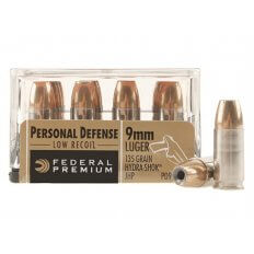 Federal Premium Personal Defense Reduced Recoil 9mm Luger 135 Gr. Hydra-Shok Jacketed Hollow Point- Box of 20