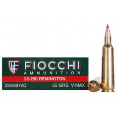 Fiocchi Extrema .22-250 Remington 55 Gr. Hornady V-Max- Box of 20