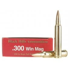 Black Hills .300 Winchester Magnum 190 Gr. Match Hollow Point Boat Tail- Box of 20