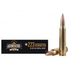 Armscor .223 Remington 55 Gr. Full Metal Jacket- Box of 20