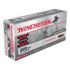 Winchester Super-X Power-Core 95/5 .223 Remington 64 Gr. Hollow Point Boat Tail- Lead-Free- Box of 20