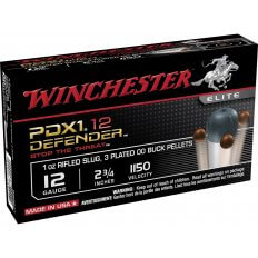 "Winchester PDX1 Defender 12 Gauge 2-3/4"" 1/2 oz 00 Buckshot over 1 oz Bonded Slug S12PDX1"