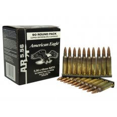 Federal American Eagle 5.56x45mm NATO 55 Gr. XM193 FMJ-BT- Box of 90