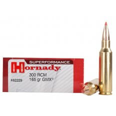 Hornady SUPERFORMANCE GMX .300 Ruger Compact Magnum (RCM) 165 Gr. GMX Boat Tail- Lead-Free- Box of 20