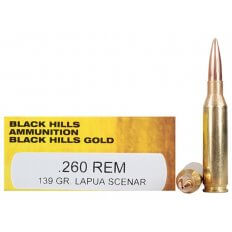 Black Hills Gold .260 Remington 139 Gr. Lapua Scenar Hollow Point- Box of 20