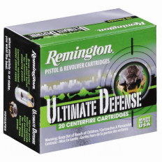 Remington HD Ultimate Defense .40 S&W 180 Gr. Brass Jacketed Hollow Point- Box of 20