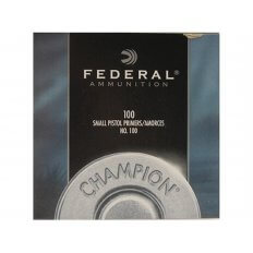 Federal Small Pistol Primers #100- Box of 1000 (HAZMAT Fee Required)