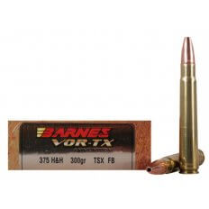 Barnes VOR-TX Safari .375 H&H Magnum 300 Gr. TSX Bullet Hollow Point Flat Base- Box of 20