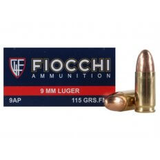 Fiocchi Shooting Dynamics 9mm Luger 115 Gr. FMJ- Box of 50